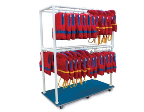 life jacket rack life vest storage rack pinnacle aquatic group inc