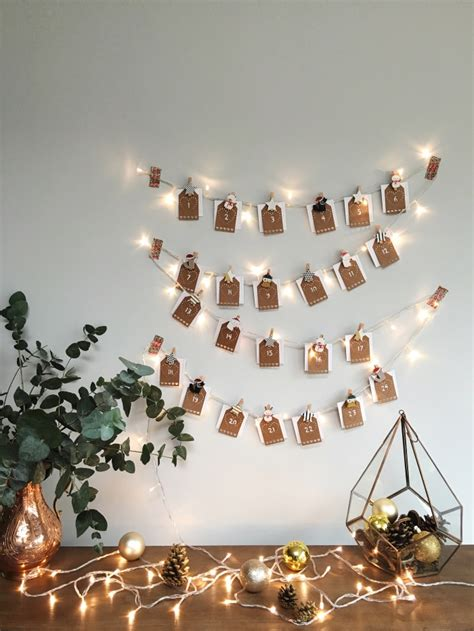 make your own advent calendar with photos diy photo and lights advent calendar