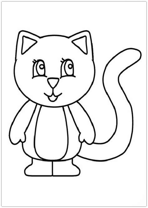 imagenes faciles para dibujar de gatos imagenes para colorear de gatos tiernos archivos dibujos