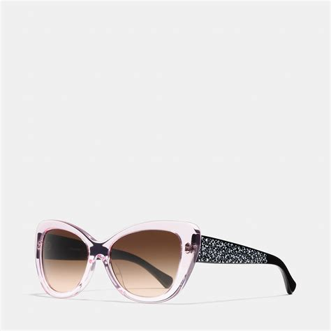 Sprei Eye Pink coach signature spray cat eye sunglasses in pink lyst