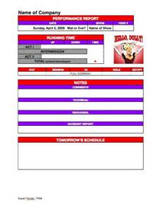 Performance Management Report Template by Stage Management Templates Headsetchatter