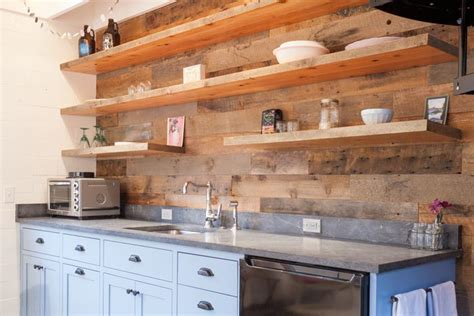 project log reclaimed wood walls barn door and bright
