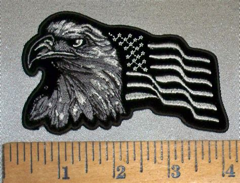 Cp Flag Black 4706 cp bald eagle and american flag left side black