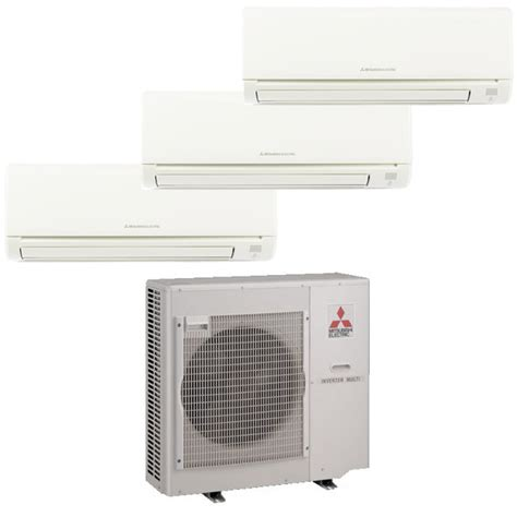 mitsubishi electric mr slim mitsubishi mr slim 3 zone heat pump with 2 9k btu indoor