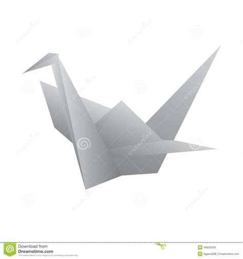 Origami Define - free coloring pages vector origami swan bird stock vector