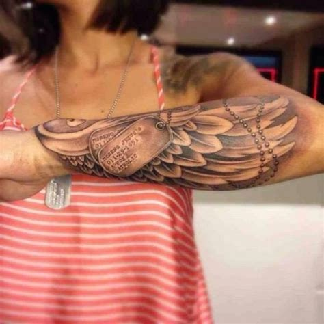 wing memorial tattoos arm best 25 army tattoos ideas on tags