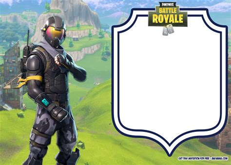Free Printable Fortnite Party Invitation Template Bagvania Free Printable Invitation Template Fortnite Template