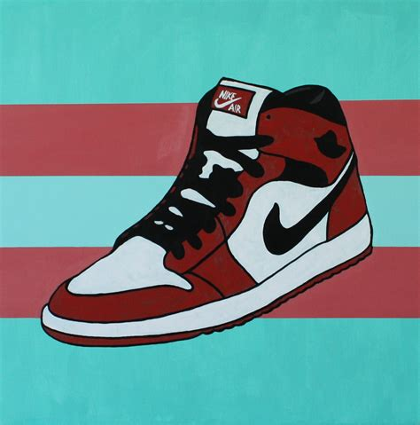 basketball pop art paintings original nike air jordan street dreams pop art