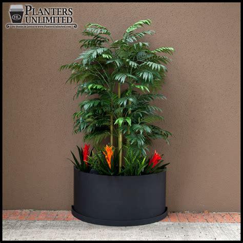 Half Circle Planter by Fiberglass Half Planters