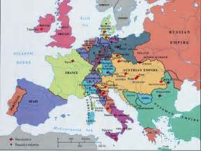 Map Of Europe 1850 by 1948 Map