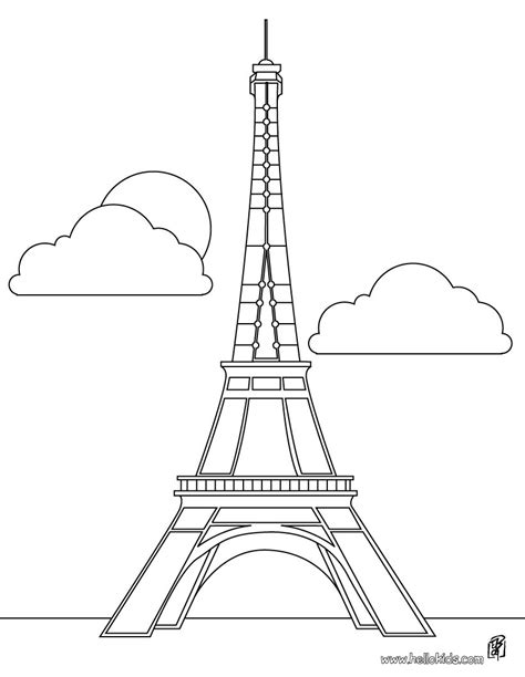 france eiffel tower coloring page eiffel tower coloring pages hellokids com