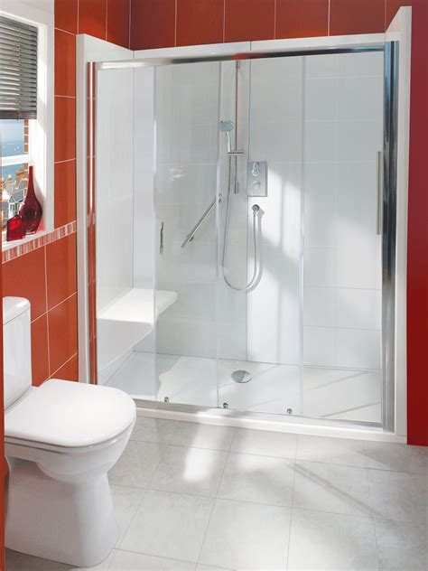 balterley bath out shower in enclosure package with seat - Bath Out Shower In