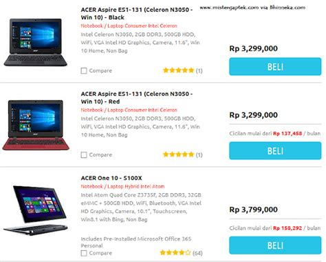 Harga Acer Netbook harga netbook acer terbaru nov 2015 masih 3 jutaan loh
