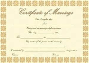 Marriage Certificate Templates Free Elegant Marriage Certificate Template Golden Edition