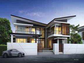 modern bungalow house with 3d floor plans and firewall