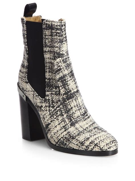 reed krakoff oxford shoes reed krakoff oxford tweed ankle boots in multicolor black