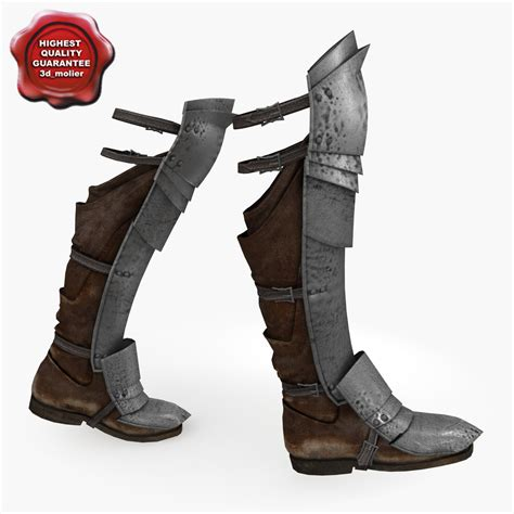 armour boots 3d model of armour boots v3