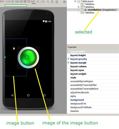 imagebutton layout gravity android tablelayout align in the row at the middle