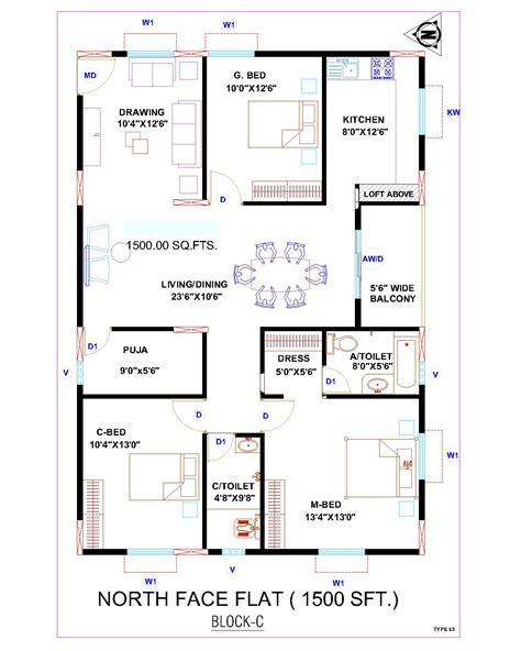 Master Bedroom In North West Vastu 700 Sq Ft House Plans North Facing House Plan 2017