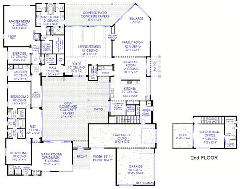 custom home design planner courtyard house plan modern courtyard houseplans for