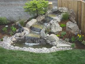 landscape design advice creating natural waterfall in