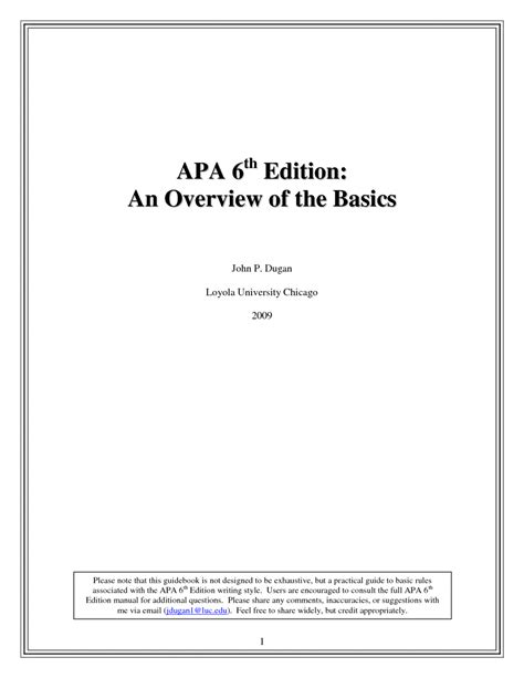 apa research paper exle 6th edition awesome apa research report format 6th edition for apa 6th
