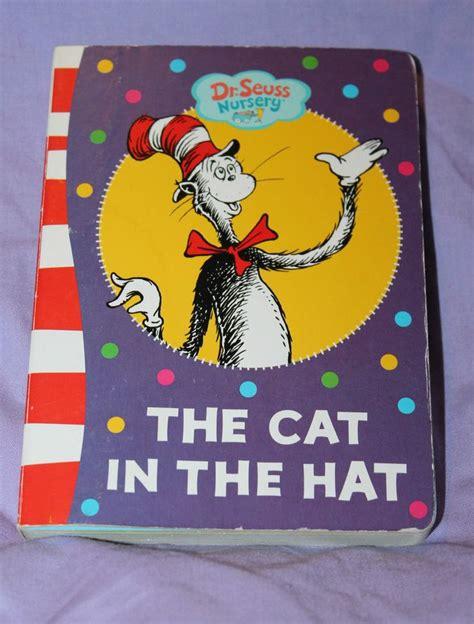 cat in the hat pictures from the book the cat in the hat a dr seuss nursery board book