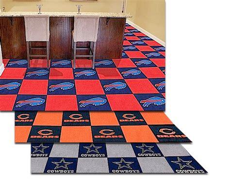 garage floor rugs nfl carpet floor tiles logo carpet floor tiles by fanmats