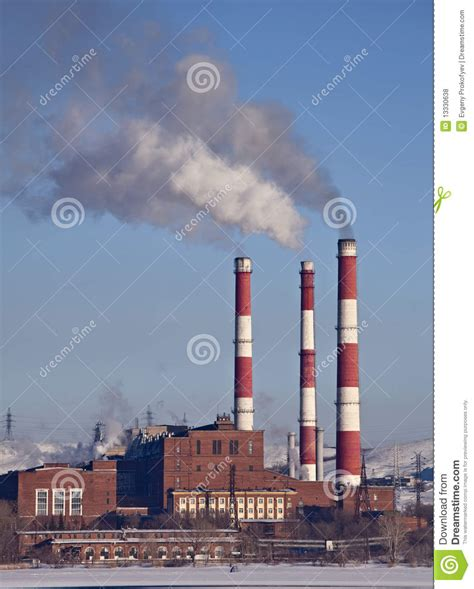 Chimney Images With Price - factory with chimneys stock photo image 13330638