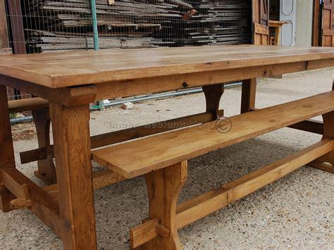 Garden Table And Bench Grand Oak Garden Table