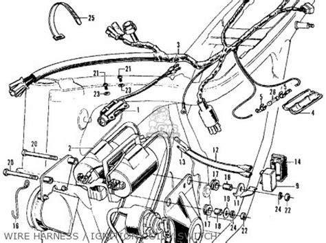 honda cb350 sport 350 k3 1971 usa parts list partsmanual partsfiche