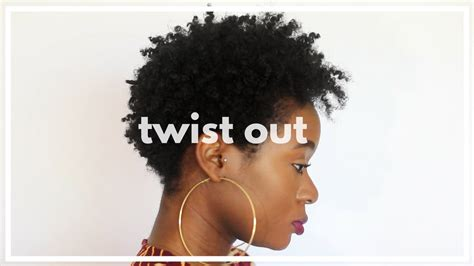 braid out on a short twa twist out on 4c twa short natural hair tapered cut youtube