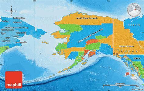 political map of alaska political map of alaska