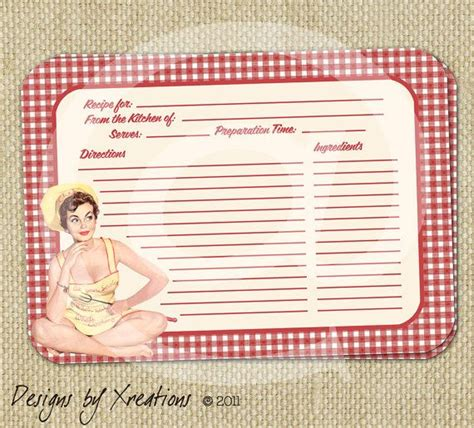 blank recipe cards for bridal shower retro kitchen themed bridal shower invitation template