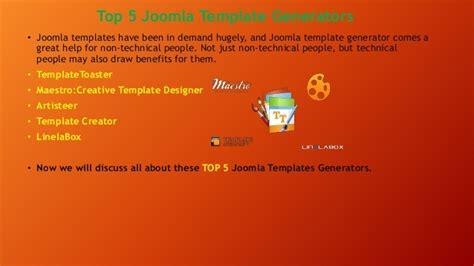 theme generator joomla introduction to joomla top 5 joomla template generator