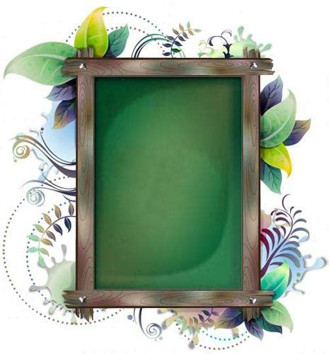 design frame billboard with floral frames design