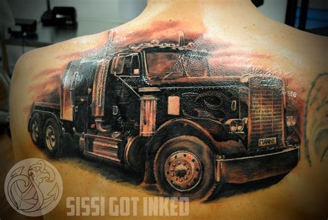 truck tattoo designs ultimate trucker tattoos and trucking companies
