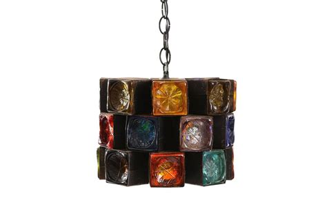 multi colored glass chandelier multi colored glass and iron chandelier hanging lights by