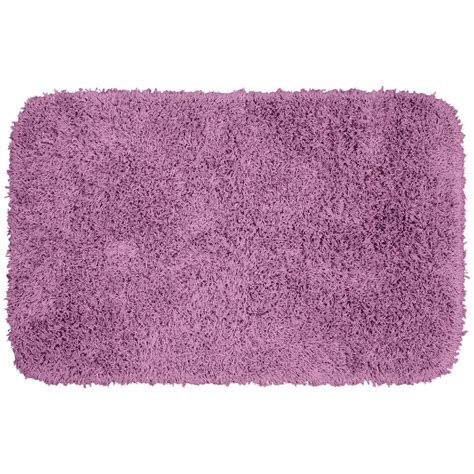 purple bathroom rug garland rug jazz purple 24 in x 40 in washable bathroom accent rug ben 2440 09 the home depot