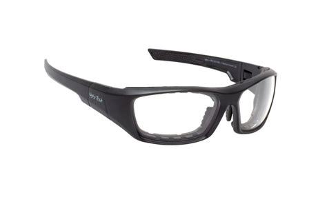 new fish safety glasses bullet matt black frame clear