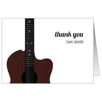 thank you letter guitar acoustic guitar strings bar mitzvah bat mitzvah note