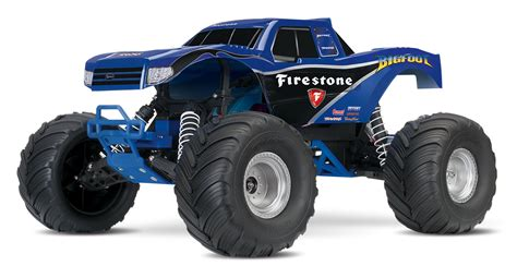 bigfoot rc truck traxxas bigfoot 1 10 schaal truck zilver trx36084 1