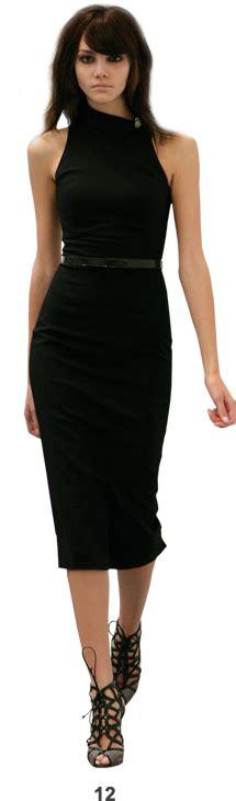 wren scott   shoulder  black dress adore