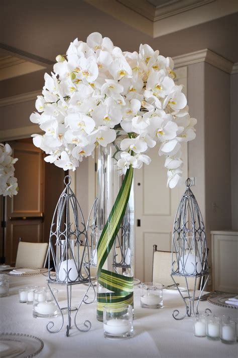 I Ll Have Something Similar To This On Either Side Of My White Orchid Centerpieces
