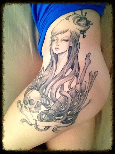 audrey kawasaki tattoo feminine hand tattoos pinterest