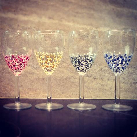 Candlelight Color Hand Painted Wine Glasses 51 Diy Ideas Guide Patterns