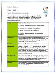 exle of lesson plan template science lesson plan sle