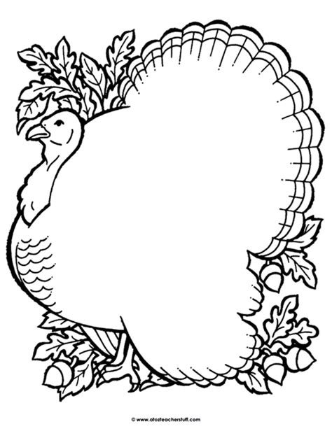 printable blank turkey turkey coloring page outline or shape book a to z