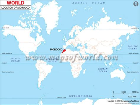 world map of morocco where is morocco location of morocco