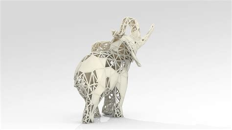 elephant lattice stl  model  printable stl cgtradercom
